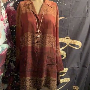 Lane Bryant tunic 14/16 polyester fall colors